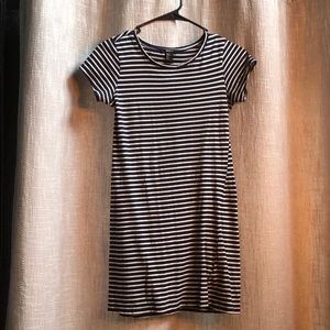 Forever 21 navy and white striped dress